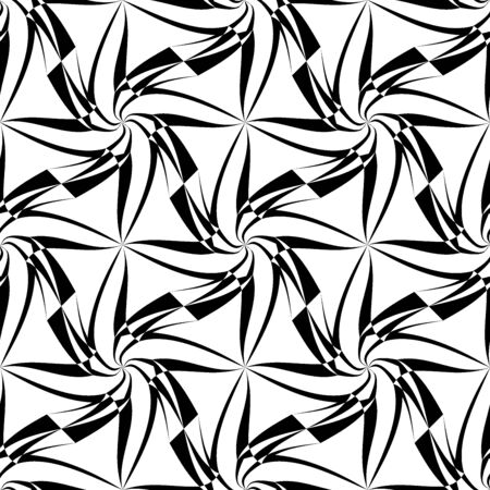 trippy: Vector modern seamless geometry pattern trippy, black and white abstract geometric background, pillow print, monochrome retro texture, hipster fashion design