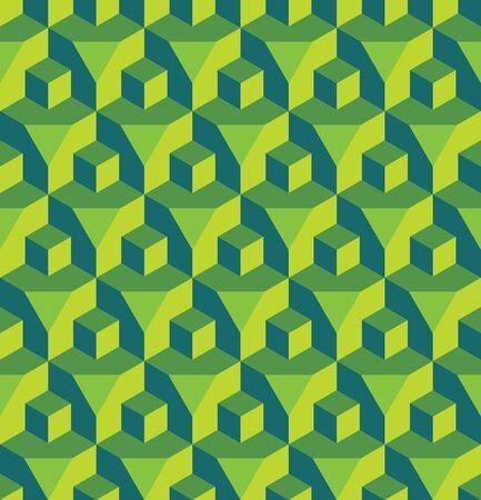 prisma: Vector moderno modelo inconsútil colorido cubo geometría de prisma, color de fondo abstracto geométrico, almohada de impresión multicolor, retro textura, diseño de moda del inconformista Vectores