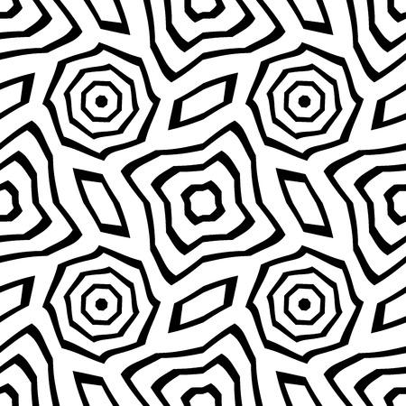 Moderno del vector sin fisuras patrón geometría, fondo abstracto geométrico blanco y negro, impresión almohada, blanco y negro retro textura, diseño de moda del inconformista