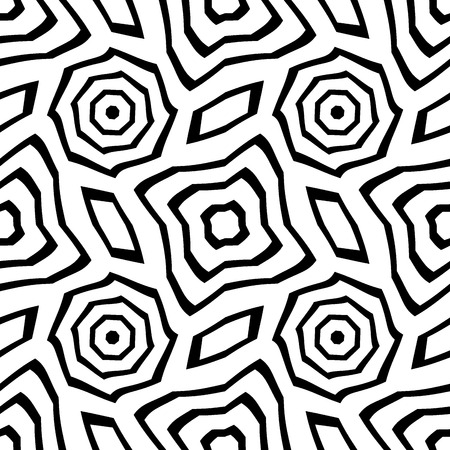 seamless: Vector modern seamless geometry pattern, black and white abstract geometric background, pillow print, monochrome retro texture, hipster fashion design