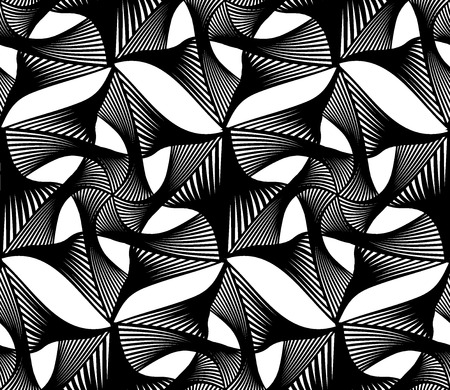 interconnect: Vector modern seamless geometry pattern web, black and white abstract geometric background, pillow print, monochrome retro texture, hipster fashion design
