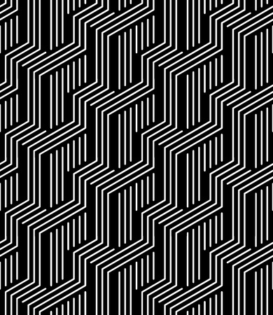trippy: Vector modern seamless geometry pattern stripes, black and white abstract geometric background, pillow print, monochrome retro texture, hipster fashion design Illustration