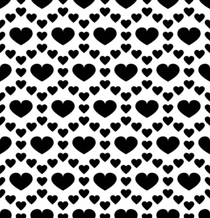 contemporary art: Vector modern seamless geometry pattern valentine, black and white abstract geometric background, pillow print, monochrome retro texture, hipster fashion design