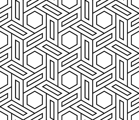 Vector modern seamless geometry pattern, black and white abstract geometric background, pillow print, monochrome retro texture, hipster fashion design