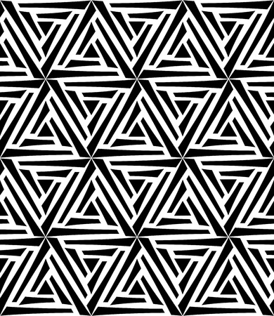 drawed: Vector modern seamless geometry pattern hexagon, black and white abstract geometric background, pillow print, monochrome retro texture, hipster fashion design