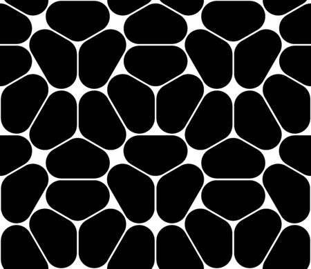 hex: Vector modern seamless geometry pattern hexagon, black and white abstract geometric background, pillow print, monochrome retro texture, hipster fashion design