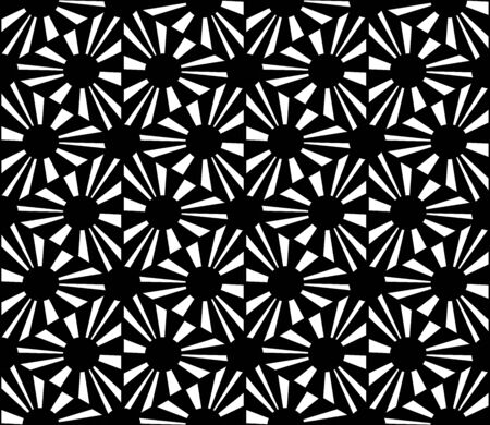 hex: Vector modern seamless geometry pattern polka, black and white abstract geometric background, pillow print, monochrome retro texture, hipster fashion design Illustration