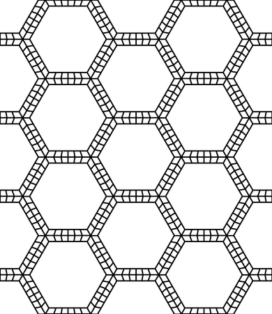 hex: Vector modern seamless sacred geometry pattern, black and white abstract geometric background, pillow print, monochrome retro texture, hipster fashion design