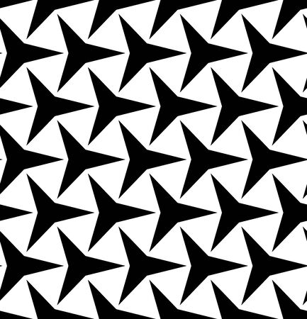 three points: Vector modern seamless geometry pattern, black and white abstract geometric background, pillow print, monochrome retro texture, hipster fashion design