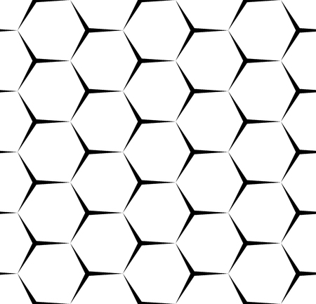 Vector modern seamless geometry pattern hexagon,, black and white abstract geometric background, pillow print, monochrome retro texture, hipster fashion design