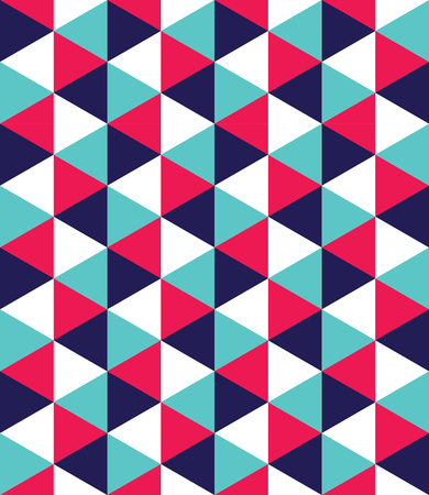 retro seamless pattern: Vector modern seamless colorful geometry triangle pattern, color abstract geometric background, pillow multicolored print, retro texture, hipster fashion design