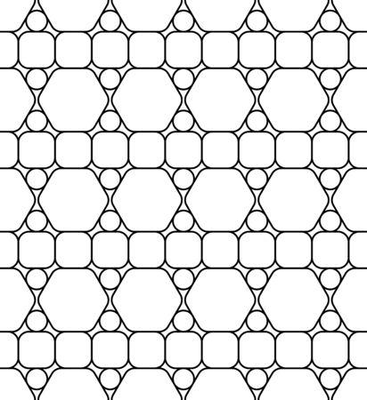 fondo geometrico: Vector modernos patrón transparente geometría, fondo abstracto geométrico blanco y negro, una almohada de impresión, monocromático retro textura, diseño de moda del inconformista