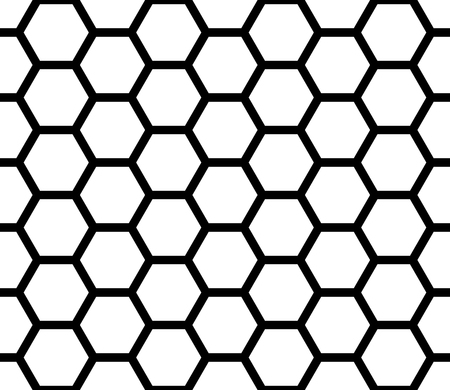 Vector modern seamless geometry pattern hexagon, black and white honeycomb abstract geometric background, subtle pillow print, monochrome retro texture, hipster fashion design 免版税图像 - 53695326