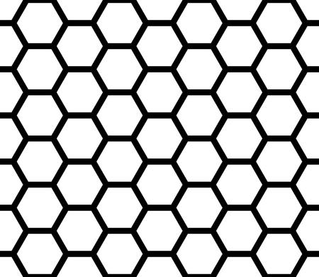 Vettore moderno senza soluzione di continuità geometrica modello esagono, fondo geometrico astratto bianco e nero a nido d'ape, sottile cuscino stampa, monocromatico retro struttura, design della moda hipster Vettoriali