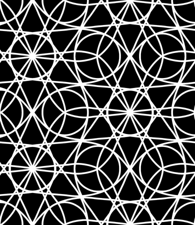 trippy: Vector modern seamless geometry pattern trippy, black and white abstract geometric background, subtle pillow print, monochrome retro texture, hipster fashion design