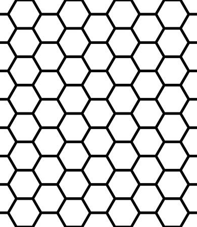 Vector moderne naadloze geometrische patroon zeshoek, zwart en wit honingraat abstract geometrische achtergrond, subtiele kussen print, zwart-wit retro textuur, hipster fashion design Stock Illustratie