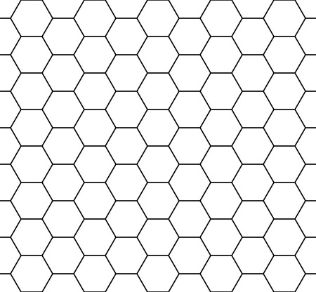 Vector modern seamless geometry pattern hexagon, black and white honeycomb abstract geometric background, subtle pillow print, monochrome retro texture, hipster fashion design 免版税图像 - 53936959