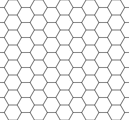 Wektor nowoczesny szwu geometria sześciokąt, czarny i biały plastra miodu abstrakcyjne geometryczne tło, subtelne poduszki drukowanie monochromatyczne retro tekstury, projektowanie mody hipster