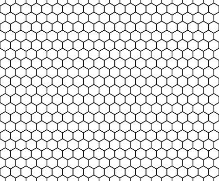 ベクトル モダンなシームレスな幾何学パターンの六角形で、白と黒のハニカム抽象的な幾何学的な背景、微妙な枕印刷、モノクロのレトロなテクスチャー、流行に敏感なファッション ・ デザイン 写真素材 - 53938931