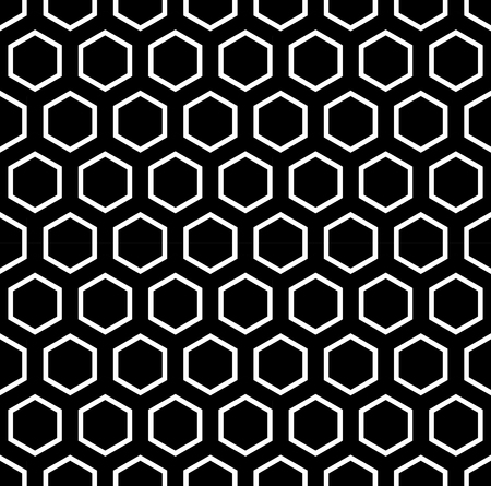 honeycomb: Vector modern seamless geometry pattern hexagon, black and white honeycomb abstract geometric background, subtle pillow print, monochrome retro texture, hipster fashion design