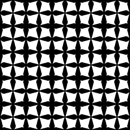 Vector moderne naadloze patroon vierkanten geometrie, zwart en wit abstracte geometrische achtergrond, subtiele kussen print, monochroom retro textuur, hipster modevormgeving