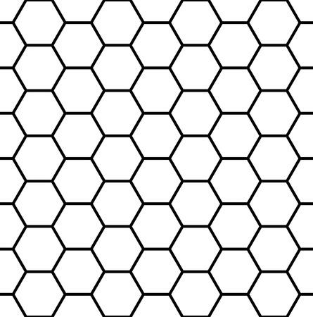 Vector moderne naadloze geometrie patroon zeshoek, zwart-wit honingraat abstracte geometrische achtergrond, subtiele kussen print, monochroom retro textuur, hipster modevormgeving