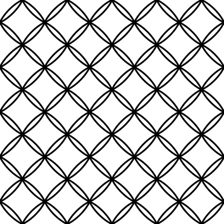Vector modern seamless geometry pattern, black and white abstract geometric background, subtle pillow print, monochrome retro texture, hipster fashion design