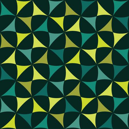 モダンなシームレスなカラフルな幾何学パターンをベクトル、抽象的な幾何学的な背景の色、多色印刷、レトロな質感、流行に敏感なファッション