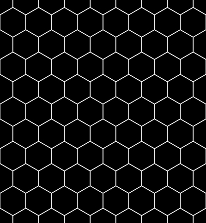 Vector modern seamless geometry pattern hexagon, black and white honeycomb abstract geometric background, subtle pillow print, monochrome retro texture, hipster fashion design