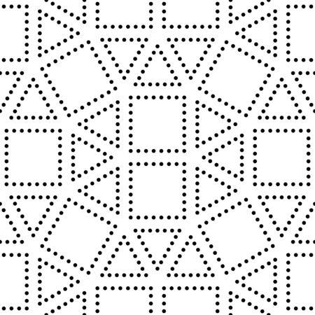 Vector Hipster carré de motif de géométrie abstraite, fond noir et blanc sans couture géométrique, oreiller subtile et mauvaise feuille imprimée, créatif art déco, simple texture, le design de mode moderne