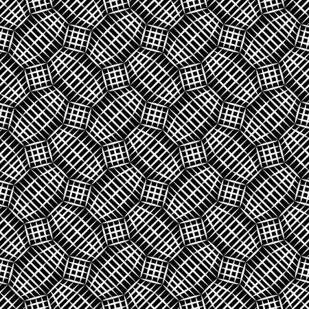 mesh texture: Vector hipster abstract geometry pattern mesh, black and white seamless geometric background, subtle pillow and bad sheet print, creative art deco, simple texture, modern fashion design Illustration