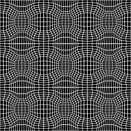 trippy: Vector hipster abstract geometry trippy pattern with 3d illusion, black and white seamless geometric background, subtle pillow and bad sheet print, creative art deco, simple texture, modern fashion design