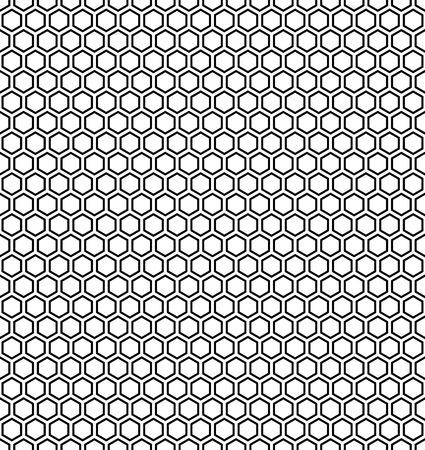 Moderno del vector patrón de la geometría hexagonal transparente, blanco y negro panal abstracta fondo geométrico, impresión almohada sutil, blanco y negro retro textura, diseño de moda del inconformista Ilustración de vector