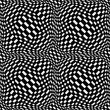 trippy: hipster abstract geometry trippy pattern with 3d illusion, black and white seamless geometric background, subtle pillow and bad sheet print, creative art deco, simple texture, modern fashion design Illustration