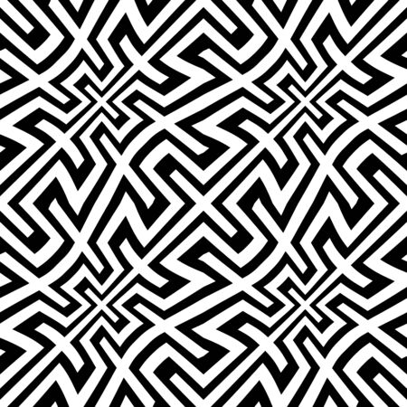 bed sheet: Vector modern abstract geometry trippy pattern. black and white seamless geometric background . subtle pillow and bed sheet design. creative art deco. hipster fashion print