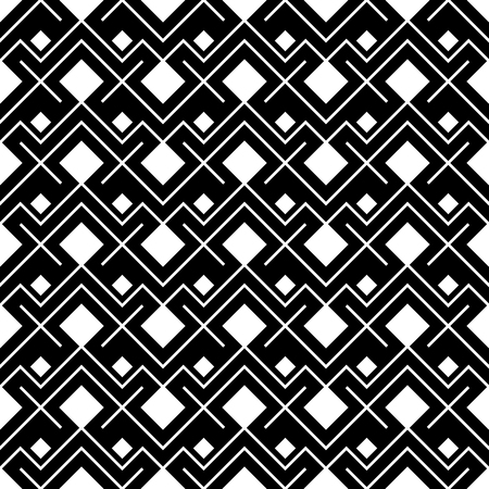 ethno: Abstract geometric black and white hipster fashion pillow ethno pattern