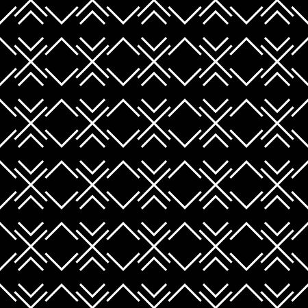 hoar frost: Abstract geometry black and white hipster fashion pillow tribal pattern