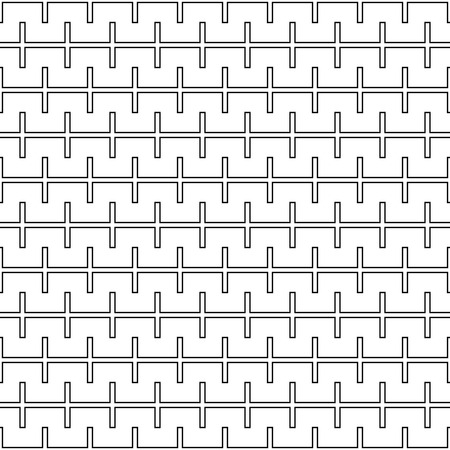 razor wire: Vector modern abstract geometry pattern lines. black and white seamless geometric background . subtle pillow and bed sheet design. creative art deco. hipster fashion print Illustration