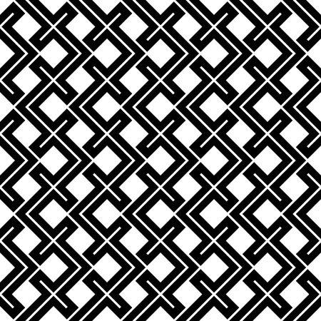 Het abstracte geometrische zwart-witte patroon van het hoofdkussenethno van de hipstermanier