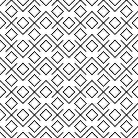 plazas geométricas abstractas inconformista blanco y negro de la almohada de la moda Ilustración de vector