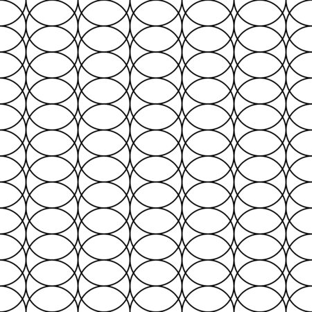 circles pattern: Abstract geometric black and white hipster fashion pillow overlap circles pattern