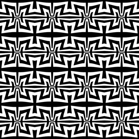 trippy: Vector modern abstract geometry trippy pattern. black and white seamless geometric background . subtle pillow and bed sheet design. creative art deco. hipster fashion print
