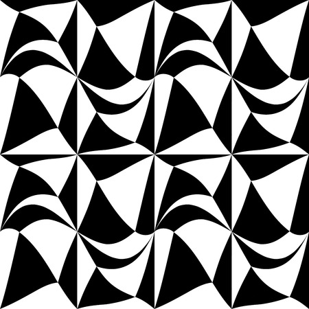 Vector modern abstract geometry square pattern. black and white seamless geometric background . subtle pillow and bed sheet design. creative art deco. hipster fashion print