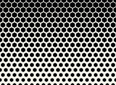 추상 형상 흑백 그래픽 하프 톤 육각형 패턴