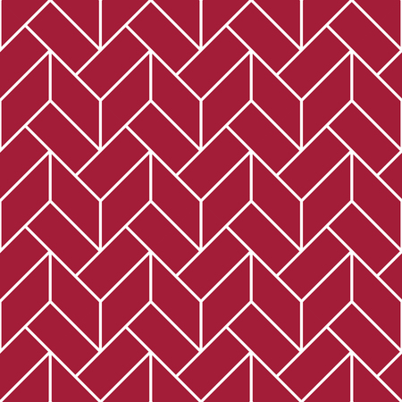 Abstract geometric red and white graphic design deco pattern