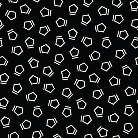 pentagon: Abstract geometrc black and white deco art memphis fashion pentagon pattern