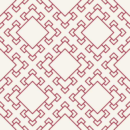 Abstract geometric red deco art square pattern background