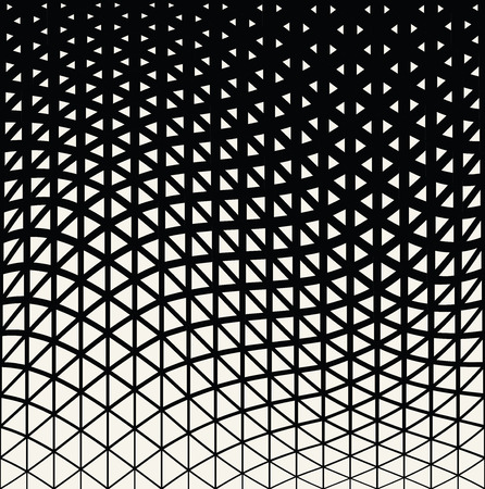 Abstract geometric triangle design halftone pattern