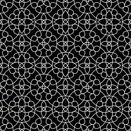 Abstract geometric black and white deco art pillow pattern