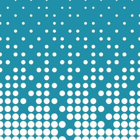 disappear: Abstract geometric blue deco art halftone circle pattern Illustration